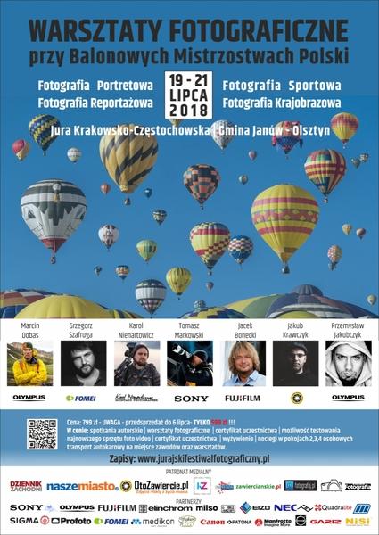 """Warsztaty Fotograficzne przy """"Balonowych Mistrzostwach Polski"""" na Jurze – Janów-Olsztyn 2018′"""