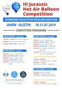 III Hot Air Balloon Competition – INTERNATIONAL POLISH CUP HOT AIR BALLOON COMPETITION